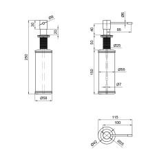 Дозатор для моющего средства Lidz (CRM) 112 02 000 10