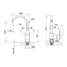 Смеситель для кухни Brinex 40W 007