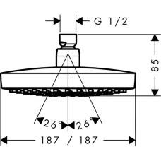 Лейка для верхнего душа Hansgrohe Croma Select E 26524000