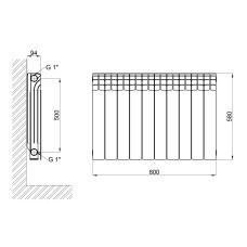 Радиатор алюминиевый Thermo Alliance All-Magnum 500/96