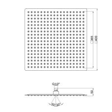 Лейка для верхнего душа Lidz (CRM) 51 10 104 40