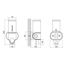 Диспенсер для жидкого мыла Qtap Davcovac mydla DM500CP