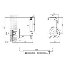 Набор для гигиенического душа со смесителем Qtap Inspai-Varius CRM V00370101