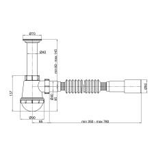 Сифон для кухонной мойки Lidz (WHI) 60 05 M001 00