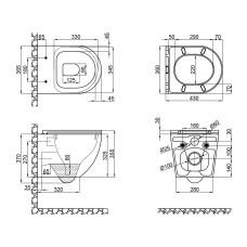 Унитаз подвесной Qtap Robin безободковый с сиденьем Soft-close QT1333046ERW