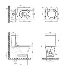 Унитаз-компакт Qtap Presto безободковый с сиденьем Soft-close QT24221217AW