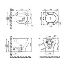 Унитаз подвесной Qtap Aries безободковый с сиденьем Slim Soft-close QT0333063ERW