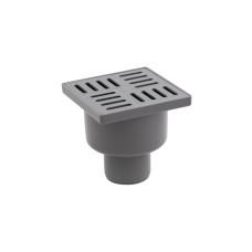 Трап Lidz (WHI) 60 07 T001 00 вертикальный с пластиковой решеткой 100х100