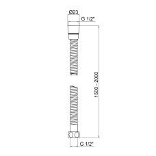 Шланг для душа Lidz (CRM) 50 12 150 00