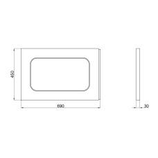 Панель для ванны боковая Lidz Panel R 70