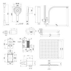 Термостатическая душевая система скрытого монтажа Qtap Votice QT6443T105NKCSET