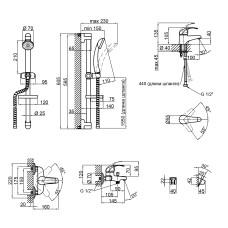 Набор смесителей Qtap Set CRM 40-111