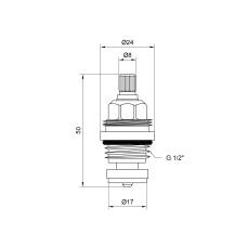 Кран-букса Lidz (BRA) 53 01 031 01 резина 1/2