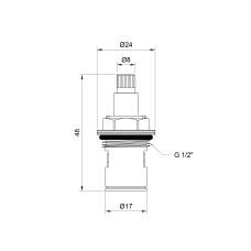 Кран-букса Lidz (BRA) 53 01 022 00 керамика 1/2
