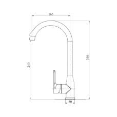 Смеситель для кухни Brinex 35B 007