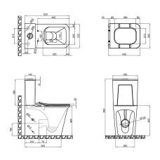 Унитаз-компакт Qtap Nando безободковый с сиденьем Soft-close QT12221222AW