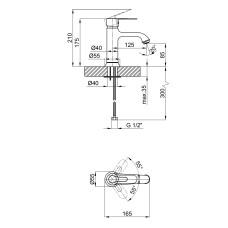 Смеситель для раковины Qtap Rozkos 1055104C