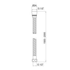 Шланг для душа Lidz (CRM) 50 13 150 00