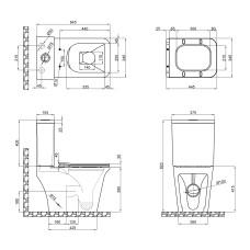 Унитаз-компакт Qtap Kalao безободковый с сиденьем Soft-close QT08221213AW