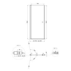 Душевая дверь в нишу Qtap Presto CRM208.P5
