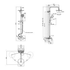 Душевая система Qtap Levny 5750104OGC