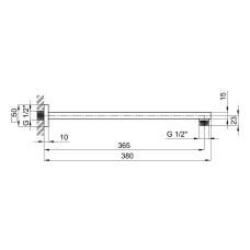 Кронштейн для верхнего душа Qtap Trubice 400NB-1