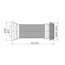 Гибкая труба для унитаза Lidz (WHI) 60 01 G001 01