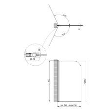 Штора на ванну Qtap Standard CRM407513APL Pear