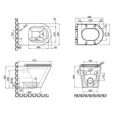 Унитаз подвесной Qtap Scorpio безободковый с сиденьем Slim Soft-close QT1433053ERW