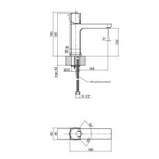 Смеситель для раковины Qtap Krychle 1852104C