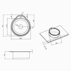 Кухонная мойка Lidz 4843 0,6 мм Decor (LIDZ484306DEC180)