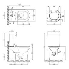 Унитаз-компакт Qtap Kolibri с сиденьем Soft-close QT1022C667PW