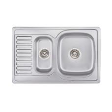 Кухонная мойка Lidz 7850 Satin 0,8 мм (LIDZ7850SAT8)