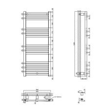 Полотенцесушитель водяной Qtap Evia (SIL) P21 1200x500 HY