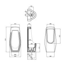 Писсуар напольный Qtap Scorpio 430х340х920 White QT1588HDU900W