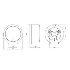 Диспенсер для туалетной бумаги Qtap Drzak papiru DP100WP