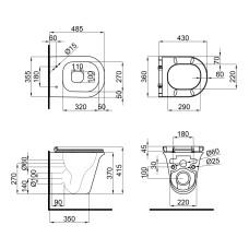 Унитаз подвесной Qtap Virgo безободковый с сиденьем Slim Soft-close QT1833051ERW