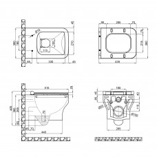 Унитаз подвесной Qtap Cardinal с сиденьем Soft-close QT0433C660HW