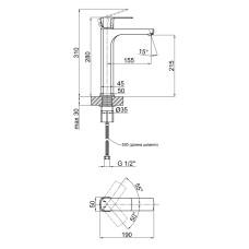 Смеситель для раковины Qtap Lipno 1023H101CB