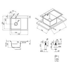 Кухонная мойка Lidz H6350L Brush 3.0/0.8 мм (LIDZH6350LBRU3008)