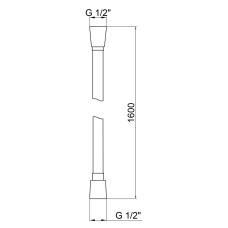 Шланг для душа Qtap Hadice PVC160C