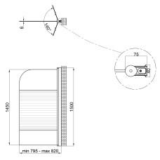 Штора на ванну Lidz Brama SS80x150R.CRM.L Linie