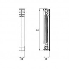 Радиатор биметаллический Thermo Alliance Bi-Magnum 500/96