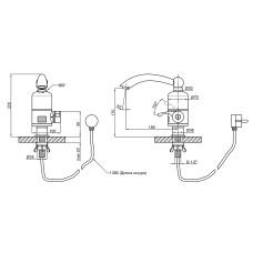 Кран для кухни проточный Lidz (WHI) 0057