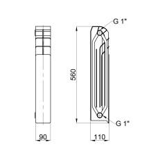 Радиатор биметаллический Thermo Alliance Bi-Vulcan Duo 500/110