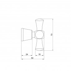 Кран-букса Lidz (CRM) 57 01 010 01 S10 с ручкой