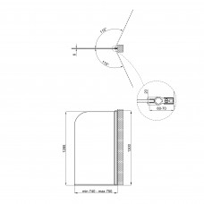 Штора на ванну Qtap Standard CRM407513APR Pear