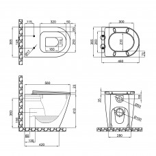 Унитаз-компакт Qtap Swan безободковый с сиденьем Soft-close QT16223178W