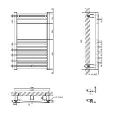 Полотенцесушитель водяной Qtap Evia (SIL) P15 800x500 HY