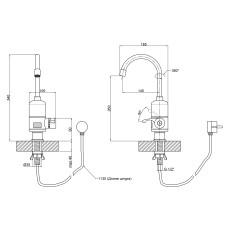 Кран для кухни проточный Lidz (WCR) 0056